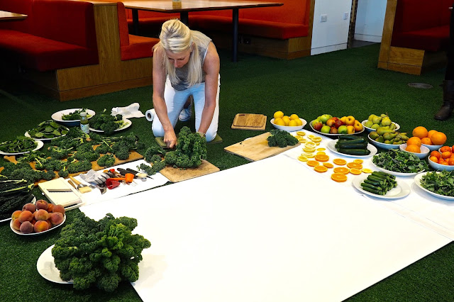 amber locke vegetable art innocent green smoothie prep