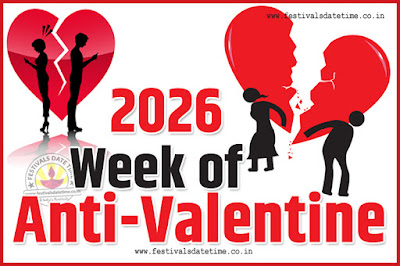 2026 Anti-Valentine Week List, 2026 Slap Day, Kick Day, Breakup Day Date Calendar