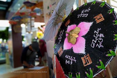 Tasikmalaya beautiful traditional umbrella