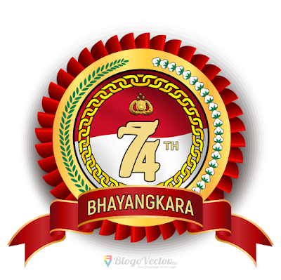 HUT Bhayangkara-74 Logo Vector