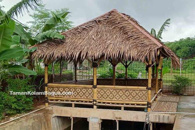Saung Bambu Atap Rumbia