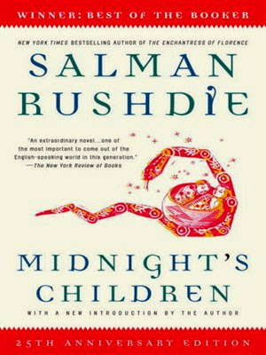 "Midnight's Children"" by Salman Rushdie - book cover"