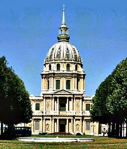 Dôme des Invalides, París, diseñado por Jules Hardouin-Mansart, c. 1675.