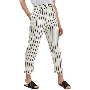 Stripe peg crop trousers, SGD 116.15 from Topshop