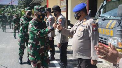 Sinergitas TNI - Polri, Pangdam I/Bukit Barisan Kunjungi Polres Natuna