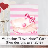 Valentine Love Note Cards