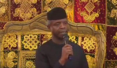 Watch the video of acting President Yemi Osinbajo saying Buhari takes him like a son
