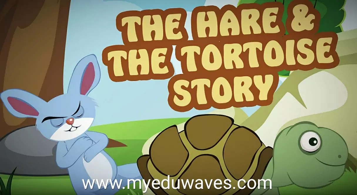 The Hare and The Tortoise Story with Moral