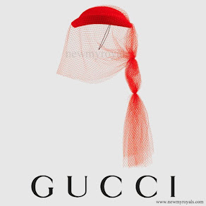 Charlotte Casiraghi wore GUCCI Hat With Veil