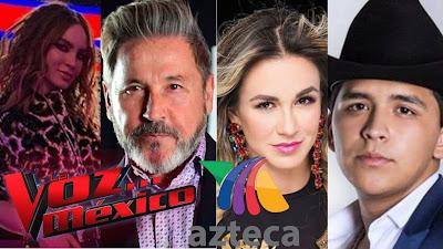 Belinda, Ricardo Montaner, Maria José y Christian Nodal La Voz