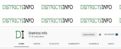 Districtsinfo Youtube Channel