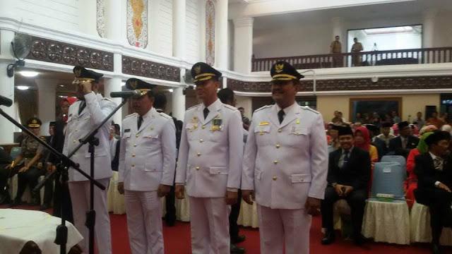 Atas Nama Mendagri Gubernur Irwan Prayitno Lantik Genius-Mardison