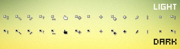 Simplify dark and light cursor scheme