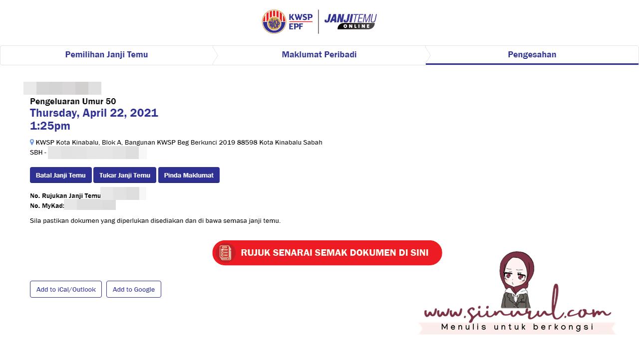 Cara Buat Janji Temu (Appointment) Online KWSP