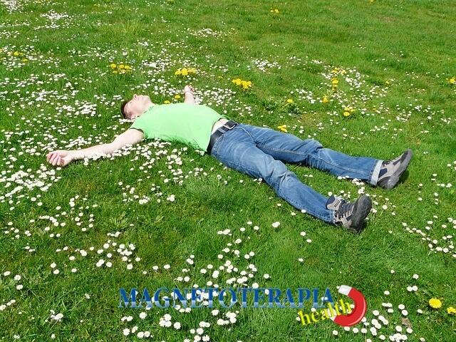 la terapia de imanes induce el sueño y la relajación muscular