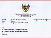 Akhirnya.... Surat Menteri PANRB Nomor : B/617/M.SM.01.00/2019 tentang Pengadaan ASN 2019