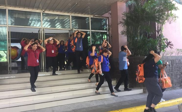 Employees of DOST-PHIVOLCS participate in the conduct of 1st NSED.