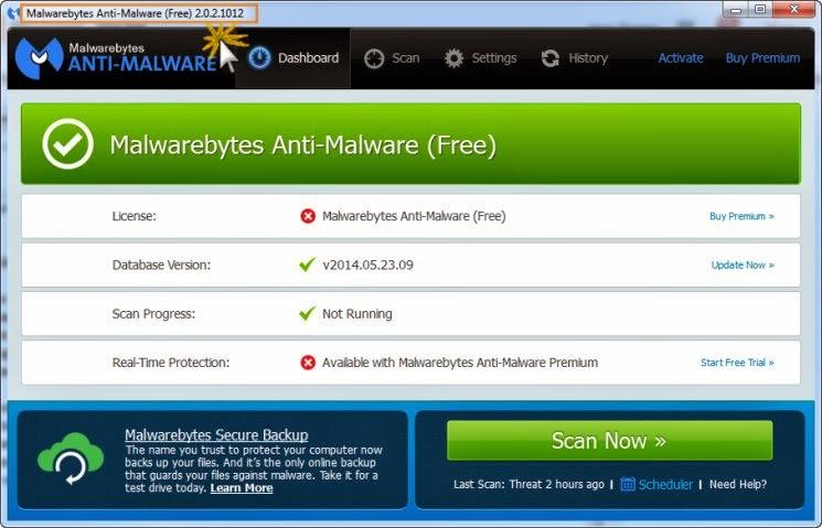 Malwarebytes 2.0.2