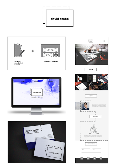 Corporate identity for David Szabo by Martina Drobna