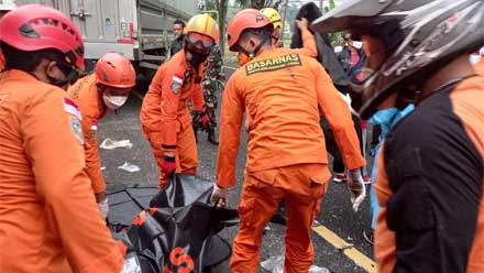 Basarnas Yogyakarta evakuasi korban kecelakaan