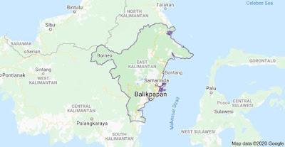 Peta provinsi Kalimantan Timur