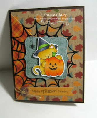 Happy Meow-oween by Tracie C. features Newton's Perfect Pumpkin by Newton's Nook Designs; #newtonsnook