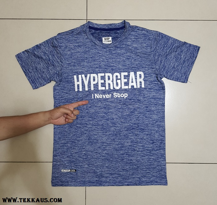 I Never Stop HyperGear Active Cool T-Shirt Review