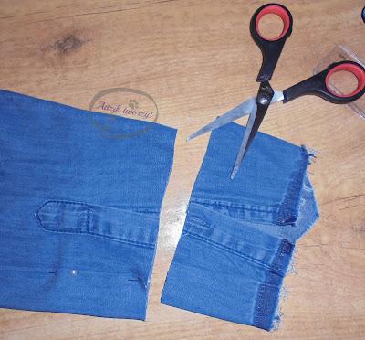 Adzik tworzy - za długi rękaw koszuli jak skrócić DIY