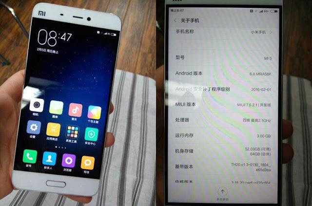 Xiaomi Mi 5 Leaked Specs & Images