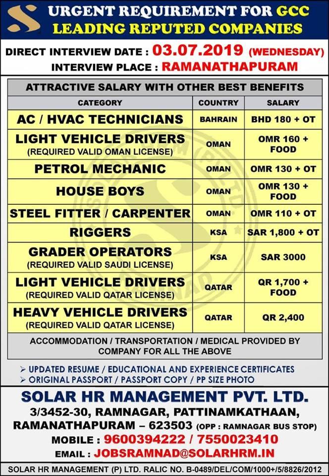 GULF JOBS NEWSPAPER ADVERTISEMENT 30-6-2019 – GCC JOBS FOR YOU