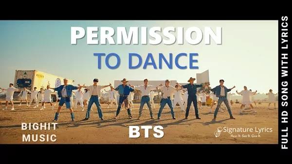 BTS - Permission to Dance Lyrics / Permission to Dance BTS Lyrics