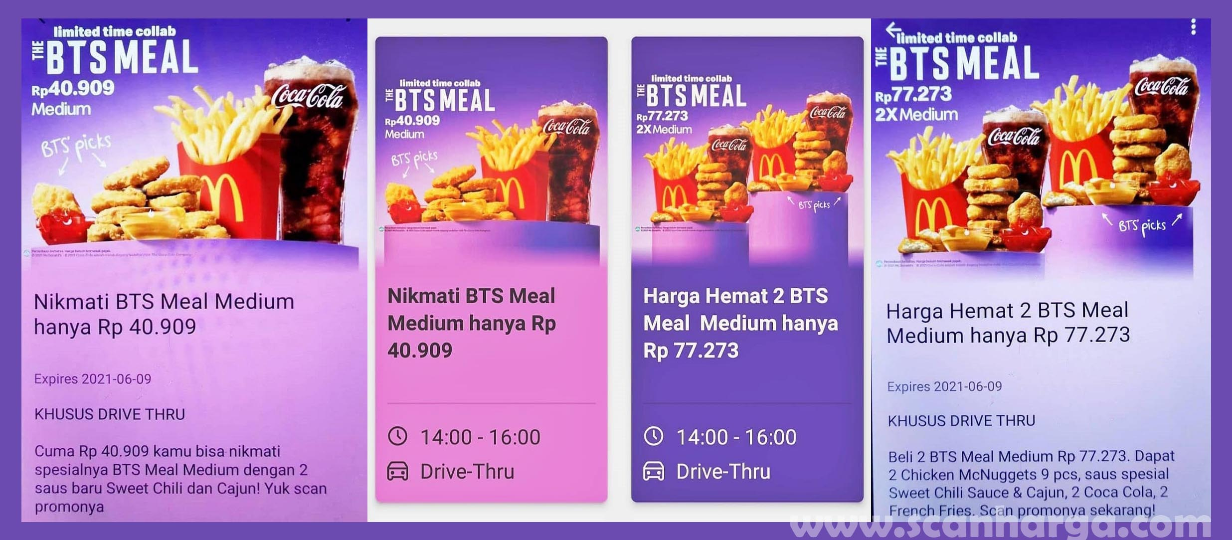 Harga Menu BTS Meal McD Medium Hanya Rp. 40.909