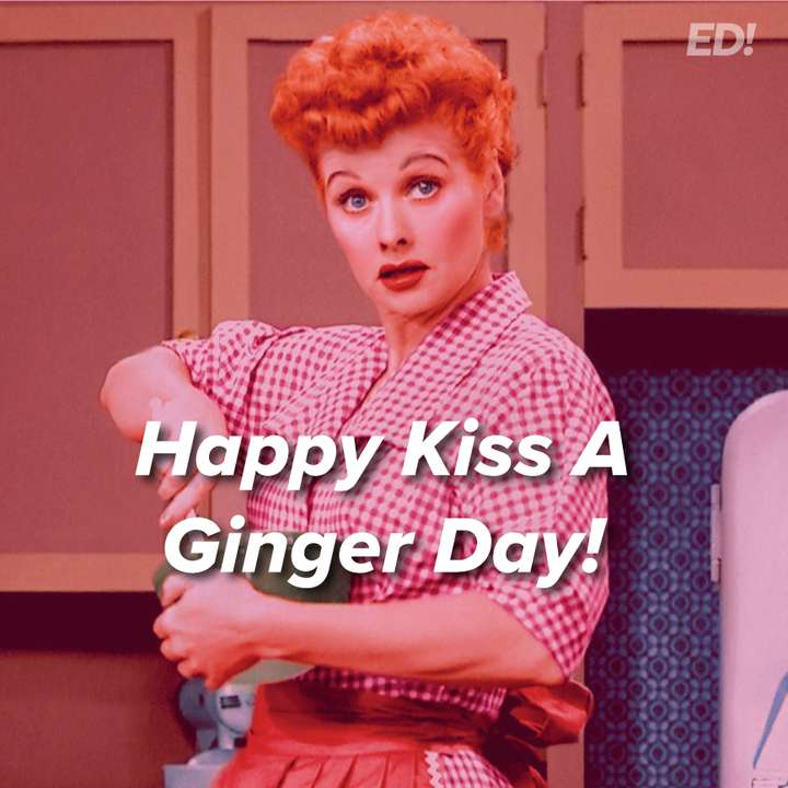 Kiss a Ginger Day Wishes Beautiful Image