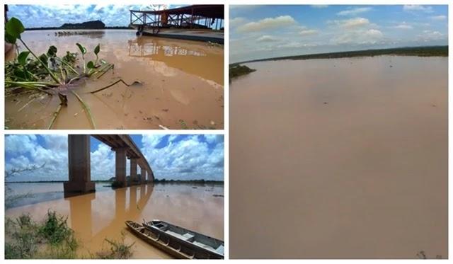 Rio São Francisco continua  subindo