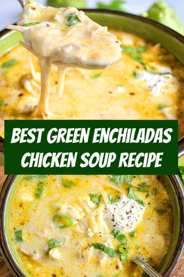 The best keto soup! Creamy green enchiladas chicken soup is so tasty and easy to make in the crockpot. Keto slow cooker Mexican soup is the perfect weeknight dinner recipe. Easily adapted Instant Pot recipe so you've got even more options. A perfect Mexican recipe for taco Tuesdays! A perfect keto slow cooker dinner idea! #keto #mexican #soup #slowcooker #crockpot #lowcarb #sugarfree #instantpot