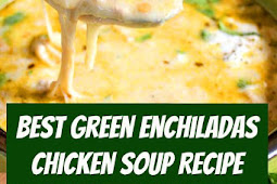 The Best Green Enchiladas Chicken Soup Recipe #keto #mexican #soup #slowcooker