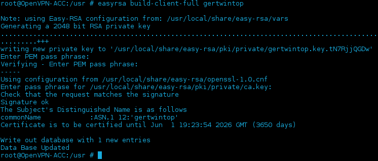 Gurt and his computeradventures: OpenVPN in FreeNAS jail