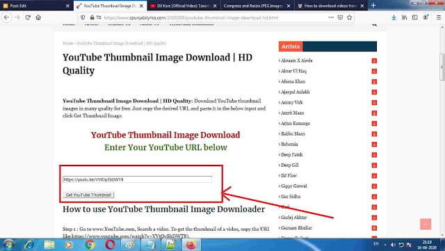 Best YouTube Thumbnail Downloader