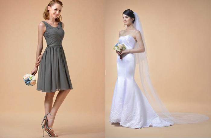 3 Combinações de Cores de Vestidos de Madrinha