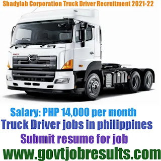 Shadylab Innovation Corporation Truck Driver Recruitment 2021-22