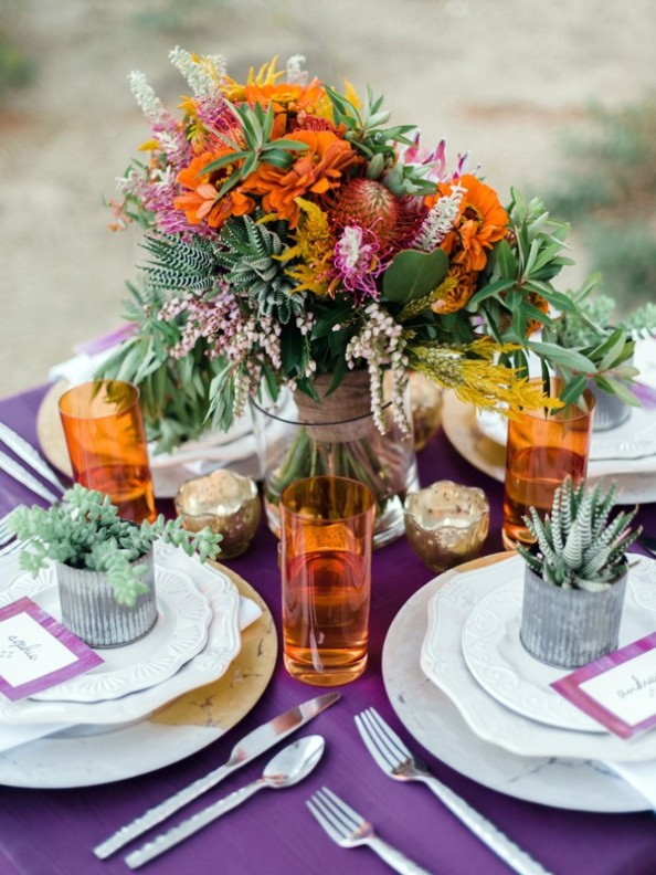 tips para decorar boda colorista y bohemia