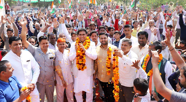 Looted four and a half years when remembering the development of the BJP at the time of elections: Lalit Nagar