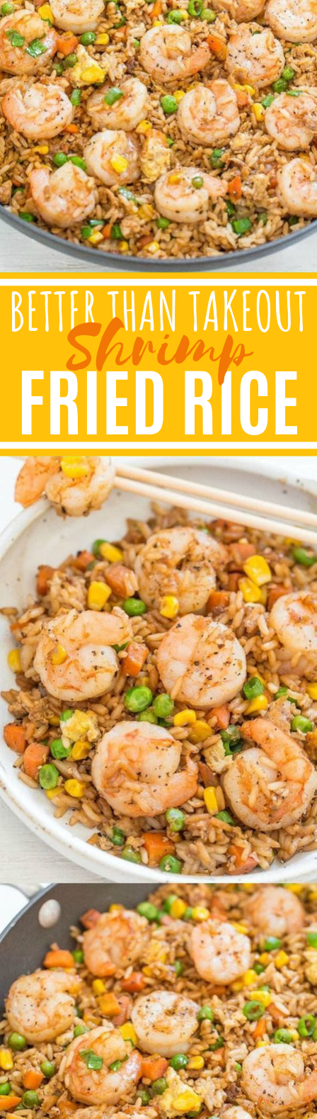 Easy Better Than Takeout Shrimp Fried Rice #dinner #recipes #chinese #food #shrimp