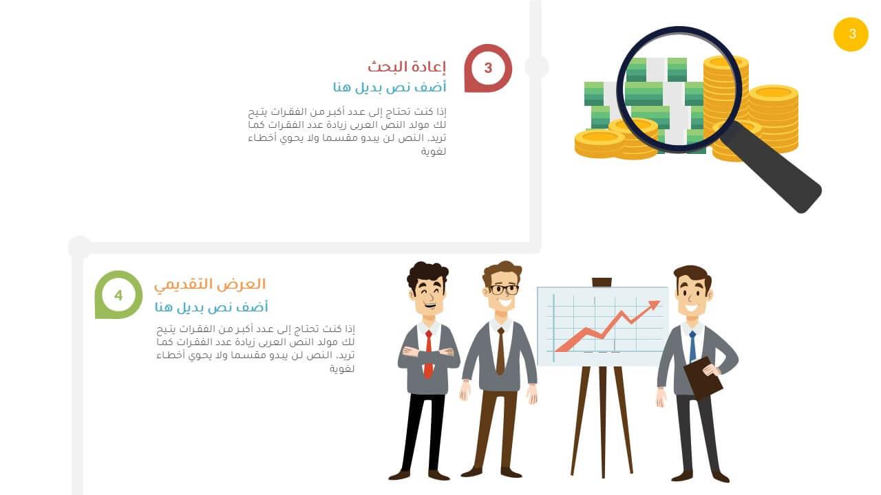 انفوجرافيك بوربوينت بيزنس عربي جاهز