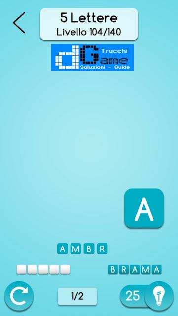 AnagrApp soluzione pacchetto 3 (5 lettere) livelli 1-140