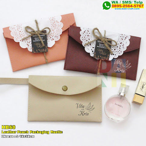 Leather Pouch Packaging Rustic
