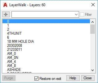 Laywalk AutoCAD Commands