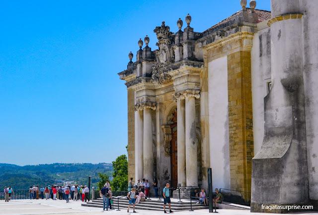 Fachada da Biblioteca Joanina da Universidade de Coimbra