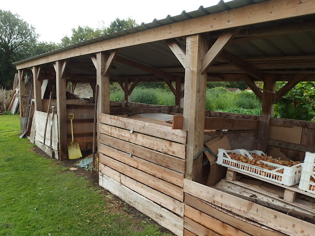 The compost bin area at Homeacres