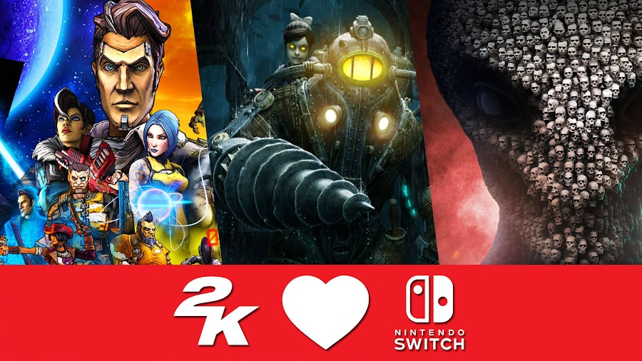 2k games nintendo switch bioshock remastered infinite complete edition borderlands legendary collection borderlands 2 pre-sequel xcom 2 collection resistance warrior pack anarchys children alien hunters shens last gift dlc war of the chosen